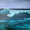 © Russell Collins - Oil Paint Artist - Heavy Breakers Seascape