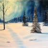 Landscape - Oil Paintings - Silent Night 01 - © Russell Collins