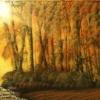 Landscape - Oil Paintings - Three Deer And A Gruffaloi - © Russell Collins