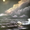 © Russell Collins - Oil Paint Artist - Night Waves Seascape