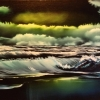 Seascape - Oil Paintings - Wild Dark Seascape - © Russell Collins