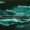 Seascape - Oil Paintings - Wild Green Seascape - © Russell Collins