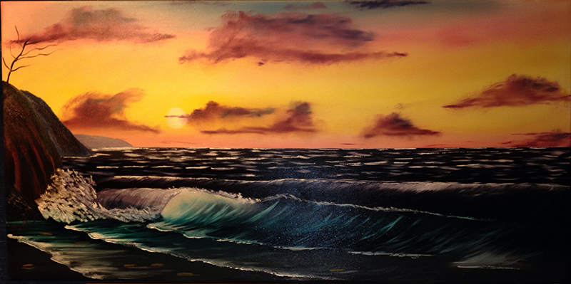 Seascape, Oil Painting, Oil Art