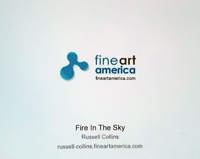 Back of Print on Demand Card Pixels and Fine Art America