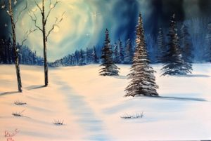 Silent Night Painting Workshop print on demand