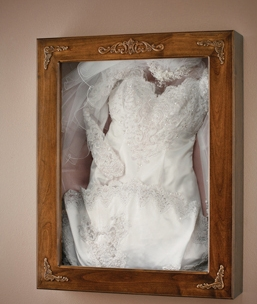 Bespoke Wedding Dress Frame - Russell Collins Art