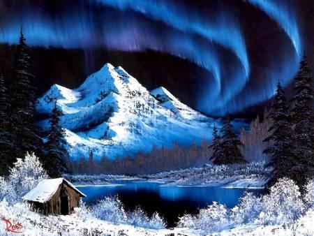 Bob Ross Painting Northern Lights